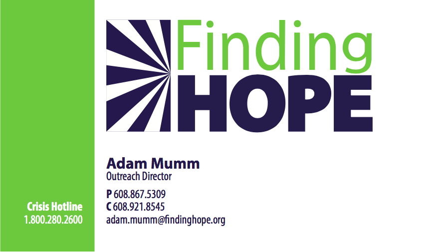 Finding Hope Business Card