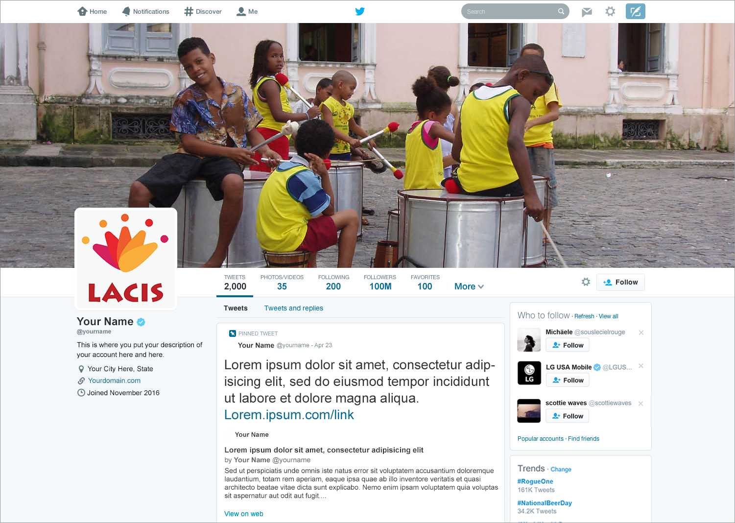 LACIS Twitter Layout