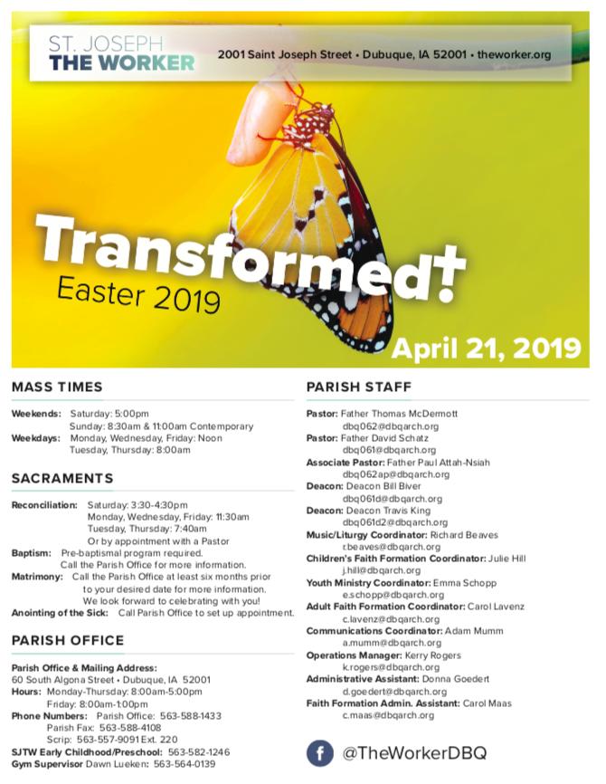 Easter 2019 Bulletin