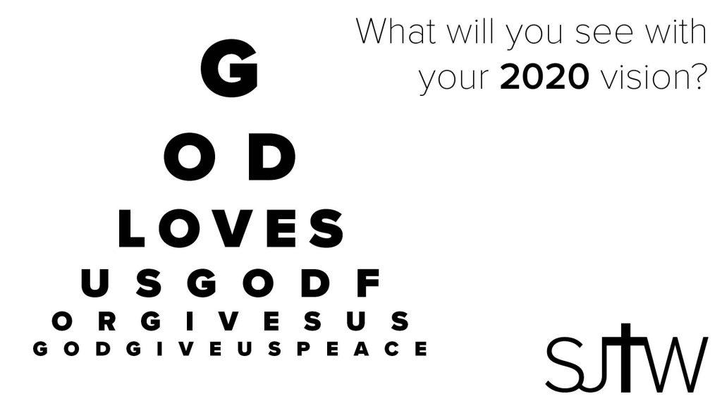 2020 Vision post based on eye chart