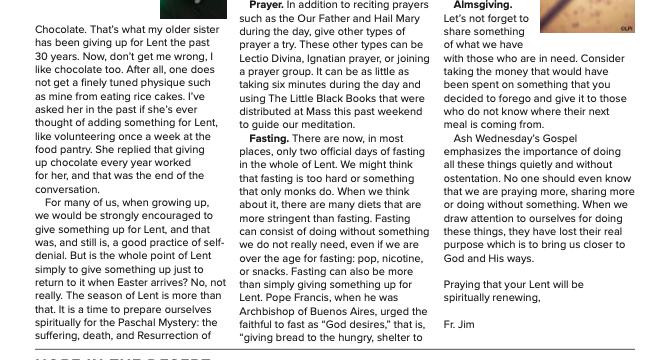 Lent 2021 Newsletter