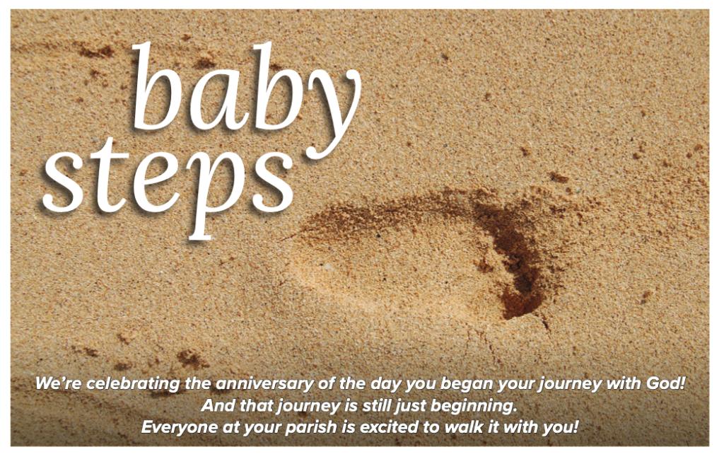 Ages 1-3 baptism postcard