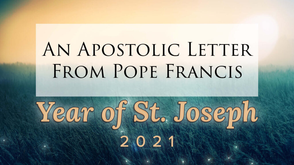 Graphic to accompany letter from Pope Francis declaring Year of St. Joseph